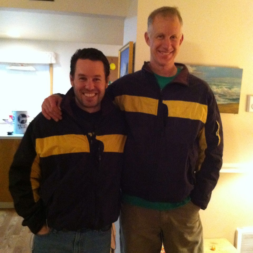 Elwyn purchased this jacket for me, which happened to be the same jacket he'd purchased for himself. He's a Michigan fan; hence the colors.