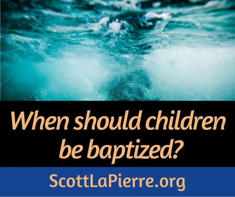 When should children be baptized? Should parents talk their children into being baptized? This post answers these questions.