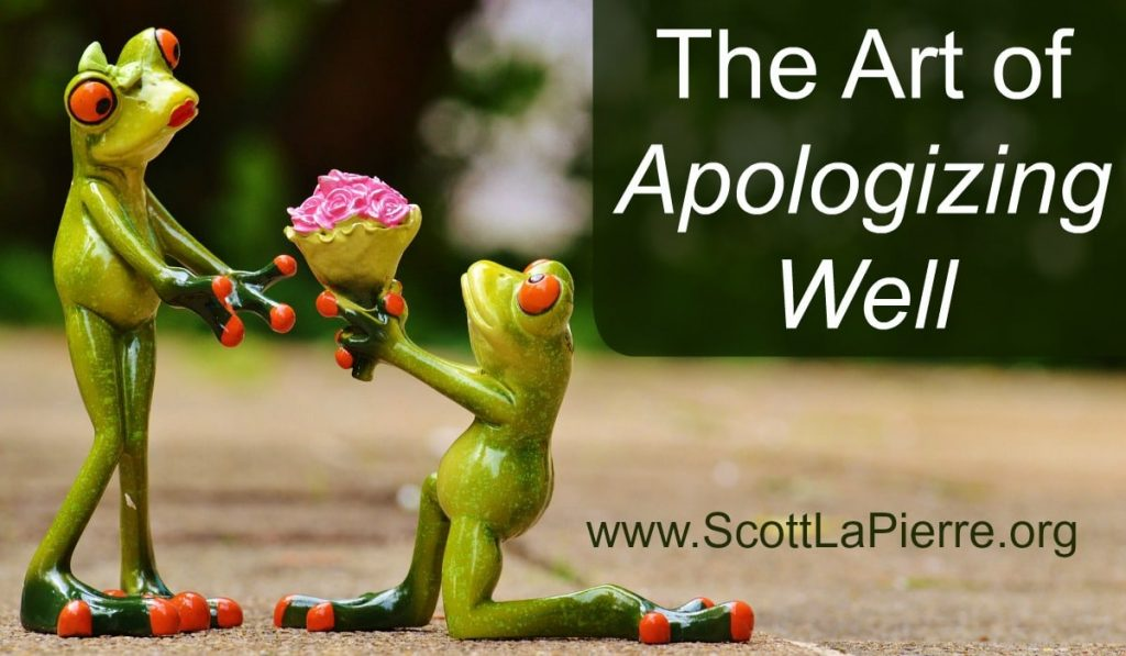 art of apologizing well