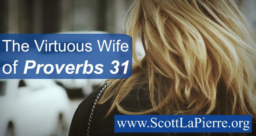 Proverbs 31 contains the Virtuous Wife passage describing the ideal woman. While it instructs wives, there's plenty of encouragement for husbands too!