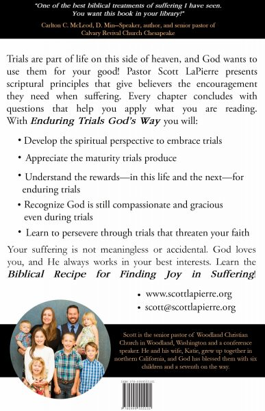 Enduring Trials God's Way by Scott LaPierre back cover