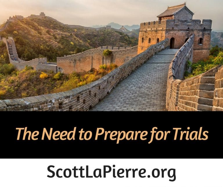 The Need to Prepare for Trials