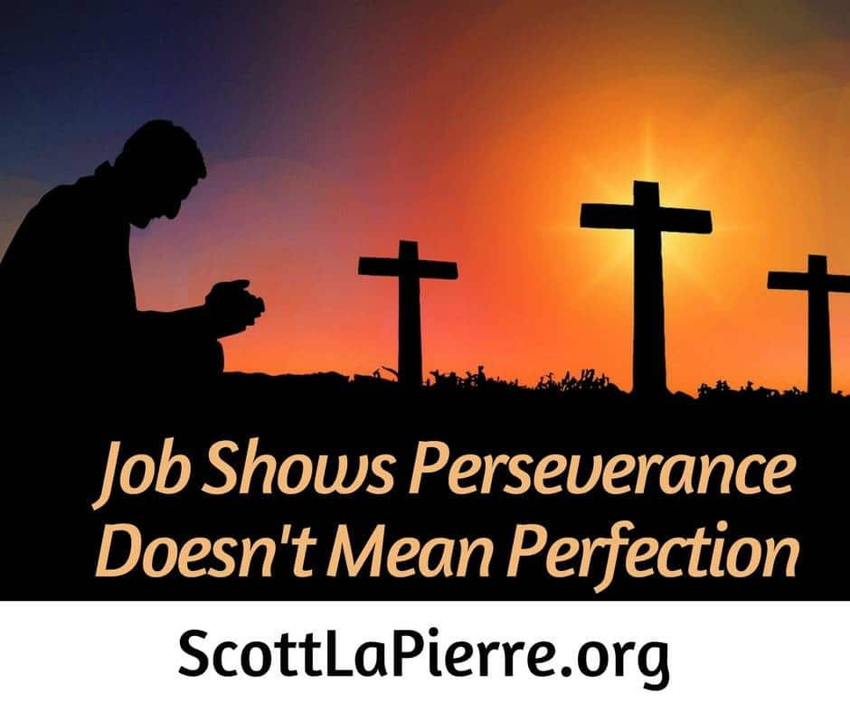 Comparing ourselves with Job can be discouraging. We can be encouraged though, because he shows that perseverance doesn't mean perfection.