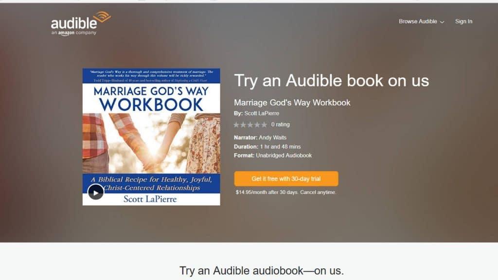Marriage God's Way Workbook free audiobook on Audible.com
